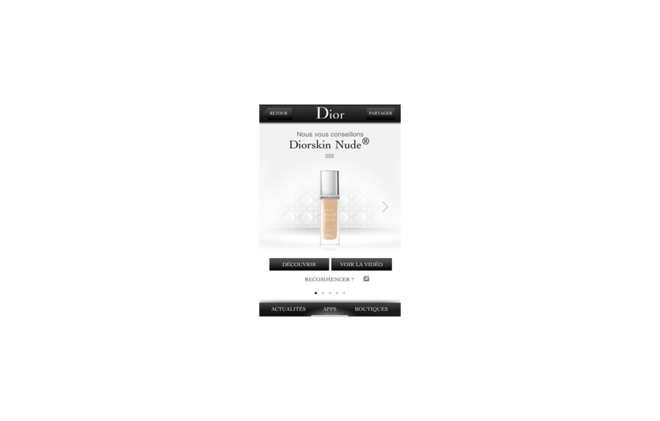Dior iPhone application - The FWA