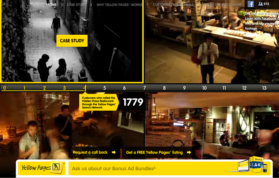Yellow Pages Hidden Pizza Restaurant - The FWA