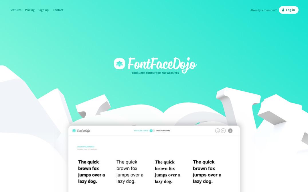 FontFace Dojo