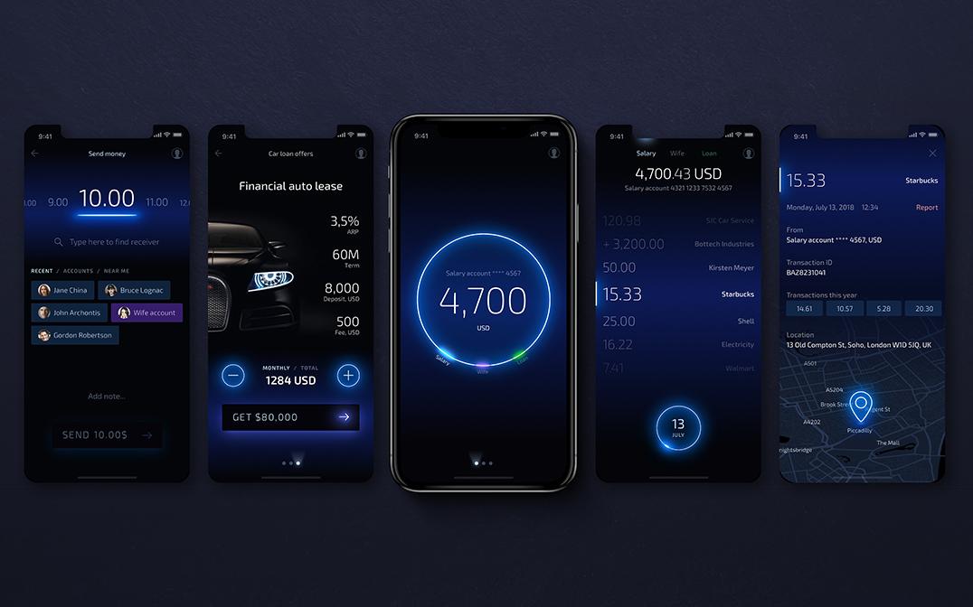 Light Bank App UX/UI Design Concept