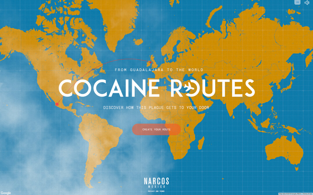 Narcos: Mexico - Cocaine Routes - The FWA